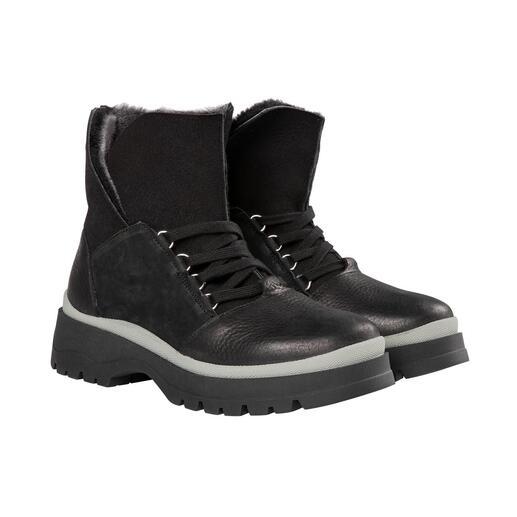 Die Hiking-Boots vom deutschen Schuh-Spezialisten Werner: Heute stylish, morgen outdoortauglich. Nur sehr selten sind modische Schuhe so hochwertig, ökologisch und nachhaltig gefertigt.