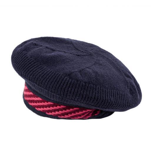 Die bequemere, edlere Baskenmütze: Kaschmir statt Wolle. Gestrickt statt gewalkt. Made in Scotland von Strick-Spezialist Johnstons of Elgin.