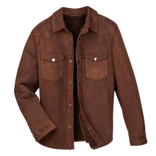 Das warme Overshirt aus luxuriösem Merino-Lammfell. Exklusiv bei Fashion Classics.