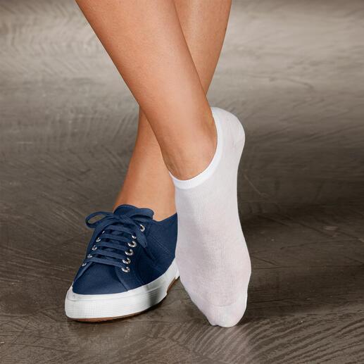 Sommer-Socken, 2-Paar-Set Diese Socken brauchen Sie, wenn Sie im Sommer am liebsten Schuhe barfuß tragen.