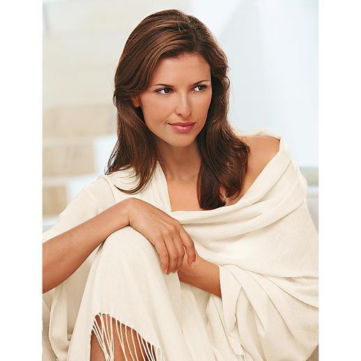 Pashmina-Schal Handgewebtes Pashmina: So zart, dass Sie diese Stola durch einen Fingerring ziehen können.