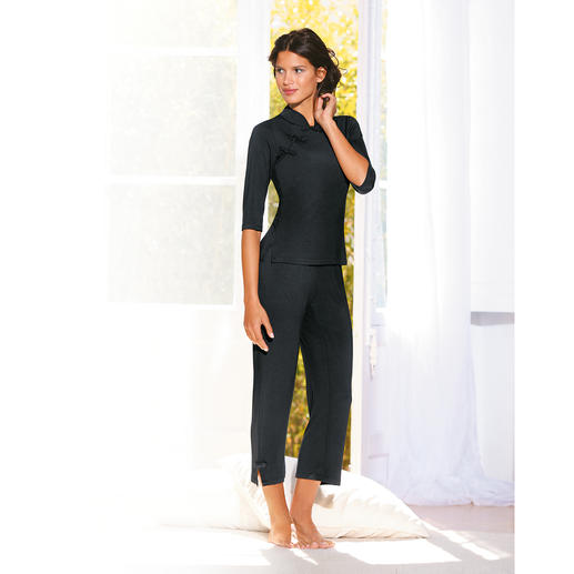 Dreamsacks®-Pyjama Bamboo-Garn macht diesen Pyjama unvergleichlich weich und angenehm luftig.