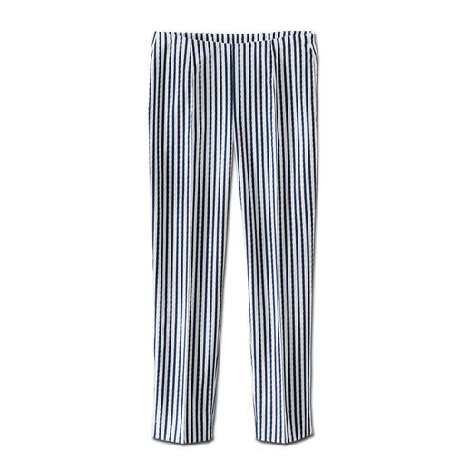 """Seersucker-Hose """"Blue Stripes"""" Die perfekte Sommerhose: Luftig leichtes Seersucker-Gewebe – aber elegant genug fürs Büro."""