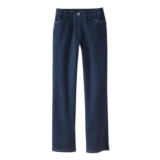 Die Magic-Jeans formt Ihre Figur wie eine Miederhose – und ist dennoch extrem bequem. Flacher Bauch. Fester Po. Und eine schlanke Taille.