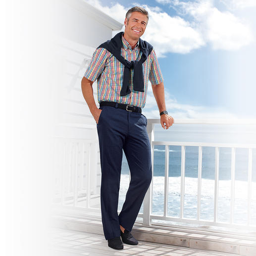 Seersucker-Hose Die Seersucker-Hose ist ideal im Sommer.