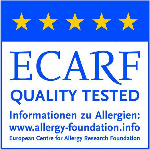 Evolon® ist der erste milbendichte Schutzbezug mit ECARF-Gütesiegel.