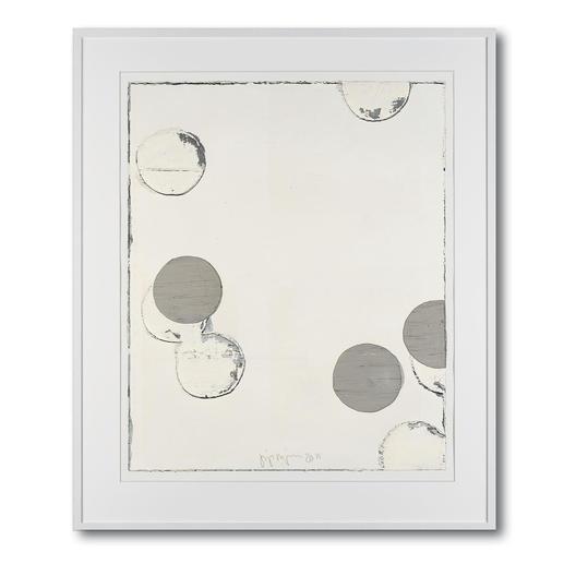 """Jupp Linssen: """"Ballpoint"""" - Erste Unikatserie von Jupp Linssen: Farbkreise aus Öl auf Büttenpapier – von Künstlerhand gemalt. 20 Multiples."""