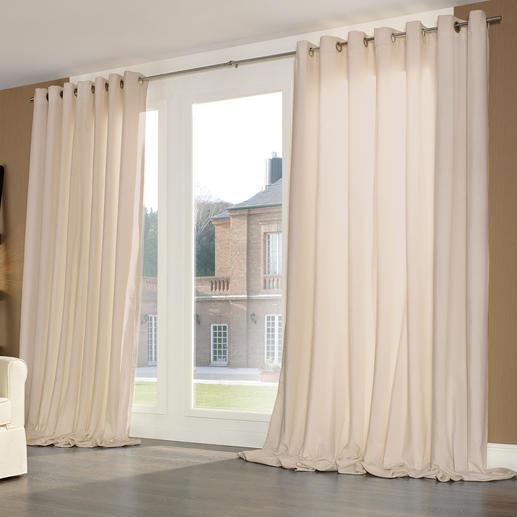 Vorhang Silent, Beige - je 1 Stück Samtweiches Spezialgewebe dämpft störenden Schall, verbessert die Raumakustik – und Ihr Wohlbefinden.