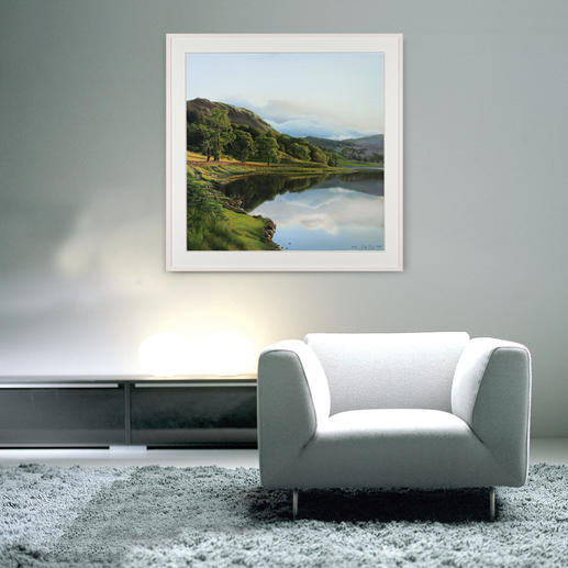 Das Werk ist so fotorealistisch gemalt, dass man erst auf den zweiten Blick erkennt, dass es sich nicht um eine Fotografie handelt.