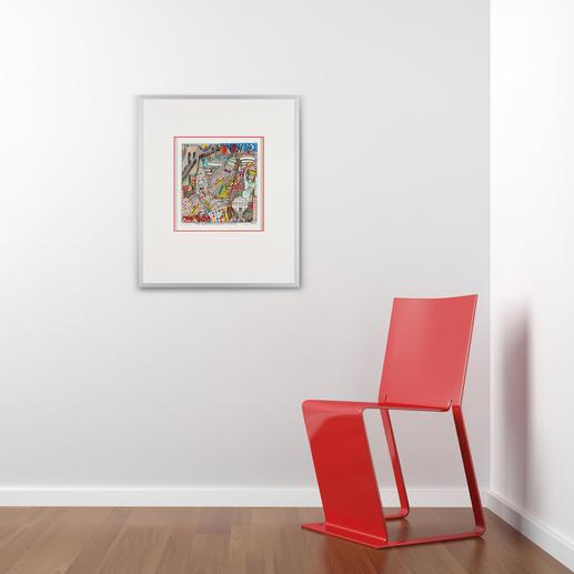 Das vielschichtige Werk steckt voller Details – eine Bereicherung für jede Wohnungs- und Büroeinrichtung.