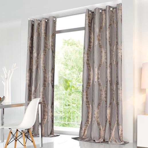 """Vorhang """"River"""", 1 Vorhang - Couture-Trend Plissee. Dauerhaft dank unsichtbarer Nähte. Diese Falten überstehen sogar die Wäsche."""