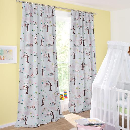 """Vorhang """"Little Owls"""", 1 Vorhang - Trend-Tier Eule: Jetzt als Verdunkelungsvorhang fürs Kinderzimmer. Genau richtig für junge Fashion-Fans."""