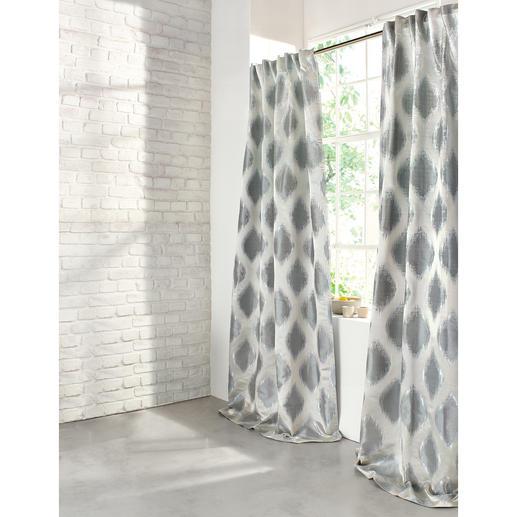 Vorhang Arbus - 1 Stück Ikat-Muster und Metallic-Look: Aus Mode-Trends wird Interior-Design.