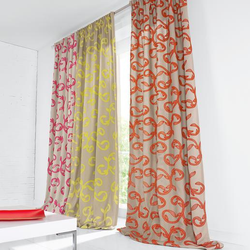 Vorhang Summerlove - 1 Stück Trend-Thema Neonfarben – aber geschmackvoll und zeitlos klassisch verewigt.