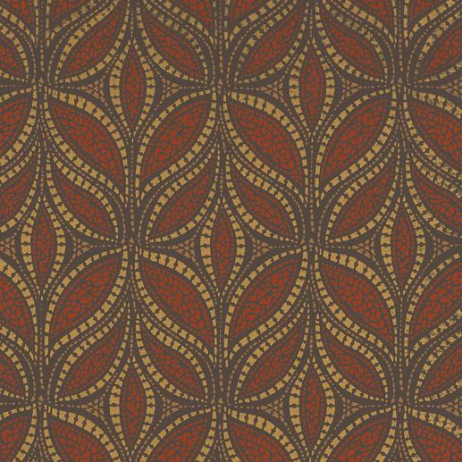 Vorhang Tombre - 1 Stück Zeitgemäße Farben. Trendige Metallic-Akzente.  Außergewöhnlich plastisches Dessin.