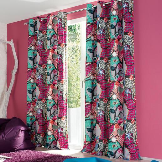 """Vorhang """"Melli"""", 1 Vorhang - Fantastische Komposition. Freche Farben. Und 100 % Verdunkelung."""