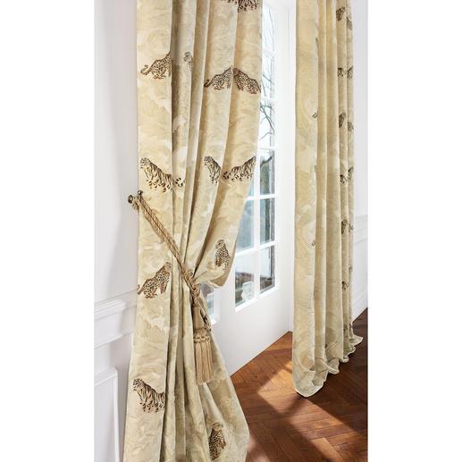 """Vorhang """"Sandokan"""", 1 Vorhang Den berühmten """"Sandokan"""" erkennt man überall.  Er ist der bekannteste Rubelli-Stoff weltweit."""