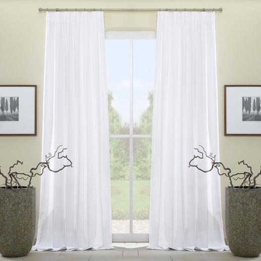 """Vorhang """"Paola"""", 1 Vorhang - Beste Baumwoll-Qualität in 5 Trendfarben – vom französischen Traditionsstoffverlag Compagnie des Étoffes. Herrlich pflegeleicht und erfreulich günstig."""