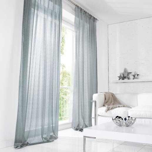 Vorhang Donne - 1 Stück Von der Modewoche auf die Möbelmesse: Der Metallic-Trend zieht ein.