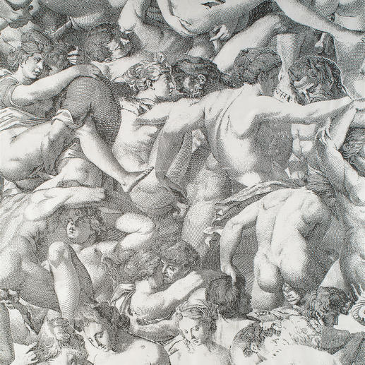 "Vorhang ""Heaven on Earth"", 1 Vorhang Erotische Kunst des 16. Jahrhunderts, verewigt auf kostbarer Seide."
