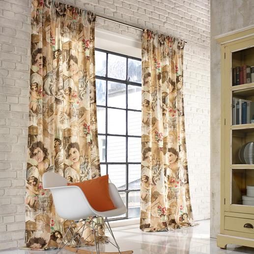 """Vorhang """"Cybele"""", 1 Vorhang So modern können die """"alten Meister"""" wirken.  Statt auf Leinwand, auf pflegeleichter Leinenmischung."""