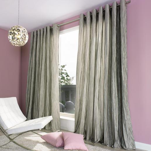 """Vorhang """"Brenda"""", 1 Vorhang Die voluminöse Wirkung eines wattierten Matelassé-Gewebes.  Aber lichter, leichter, fließender."""