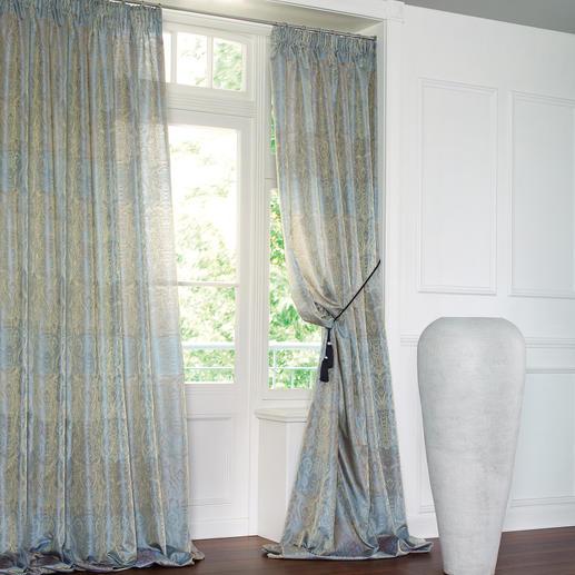 Vorhang Chalet - 1 Stück Vollflächig verwebtes Goldgarn sorgt für barocke Pracht.