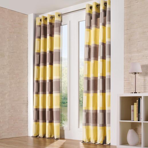 """Vorhang """"Allegro"""", 1 Vorhang - Nur zwei Farben. Und doch eine vielschichtige Wirkung."""