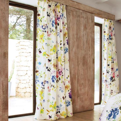 """Vorhang """"Midsummer Day"""", 1 Vorhang - Selten gelungenes Aquarell-Design im Inkjet-Print. Viel beachtet in der internationalen Fachpresse."""