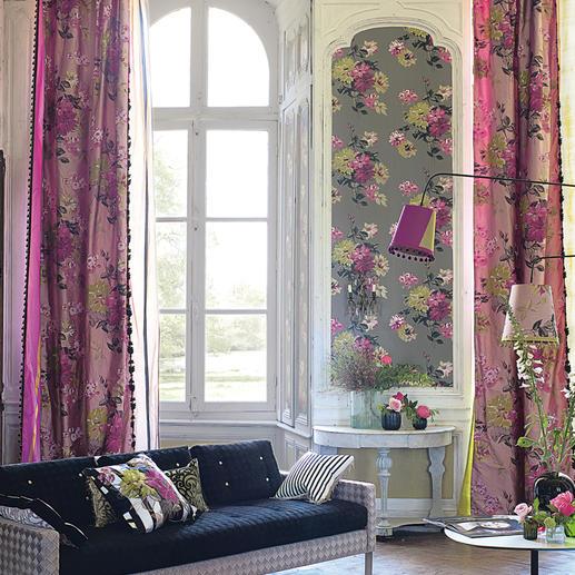 """Vorhang """"Portier"""", 1 Vorhang - Typisch Designers Guild: prunkvoller Seiden-Schal mit Blüten wie von Hand gemalt."""