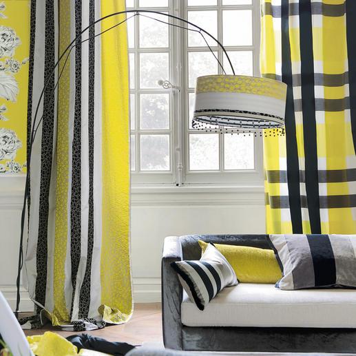 """Vorhang """"Beduzzi"""" oder Vorhang """"Svoboda"""", je 1 Vorhang Karos und Ketten – farbbrillant und weich fließend."""
