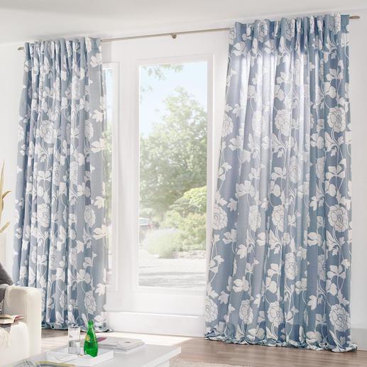 "Vorhang ""Medusa"", 1 Vorhang - Seltenes, gepolstertes Matelassé-Gewebe mit besonders bauschigem Fall."