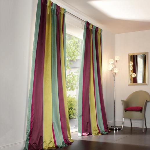 """Vorhang """"Sansibar"""", 1 Vorhang - Vom Münchner Stoff Frühling: Multicolor-Streifen von Sahco, Nürnberg."""