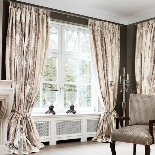 Vorhang Sulpice - 1 Stück - Luxus pur: Reine Seide, im neuen Eloxalverfahren gefärbt.