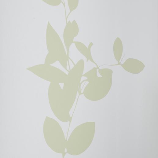 """Flächenvorhang """"Jasira"""", 1 Flächenvorhang Blätter-Ranken auf japanischem Shoji-Papier."""