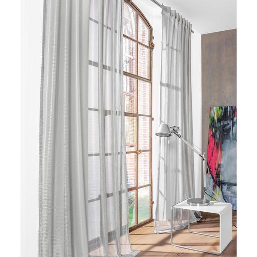 Store/Gardine Alu Net - 1 Stück So licht und transparent kann ein effektiver Blend- und Wärmeschutz-Vorhang sein.