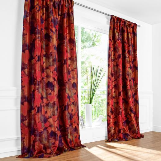 """Vorhang """"Magnolia"""", 1 Vorhang - Sahco feiert die """"Rückkehr der Farben"""" mit einem wahren Feuerwerk."""
