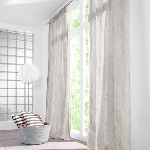 """Vorhang """"Scalino"""", 1 Vorhang - Ein kunstvolles Relief aus paspelierten Biesen. Dreidimensional und ausdrucksstark."""