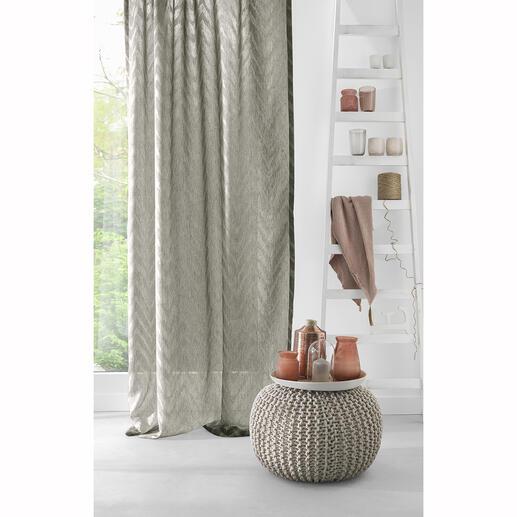 Vorhang Arielle - 1 Stück So sanft kann ein scharfes Zackenmuster wirken.
