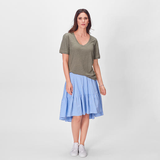 SLY010 Leinen-Shirt, Khaki Modisch. Lässig. Luftig: das SLY010 Edel-Shirt aus reinem Leinen.