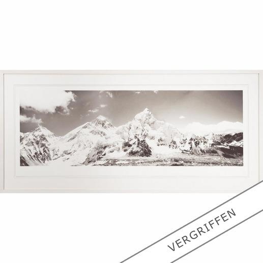 """Koshi Takagi: """"Himalaya"""" - Fotorealistische Bleistiftzeichnung mit über 1 Million handgemalten Strichen. Erste Edition des mehrfach ausgezeichneten jap. Künstlers Koshi Takagi. 30 Exemplare."""