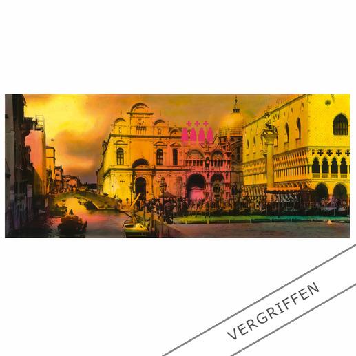 """Venedig"", Aludibond hinter Acrylglas, 118 x 50 cm."