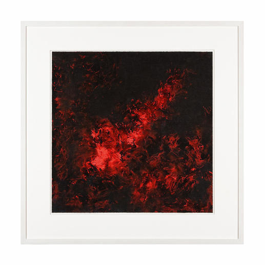 """Flammen der Leidenschaft I"", gerahmt 83 x 83 cm."