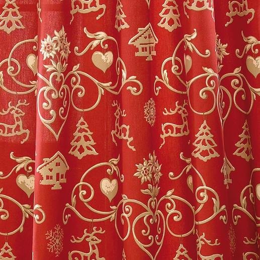 """Vorhang """"Noel"""", 2er-Set Verzaubert die Advents- und Festtagszeit  mit weihnachtlichen Farben und Motiven."""