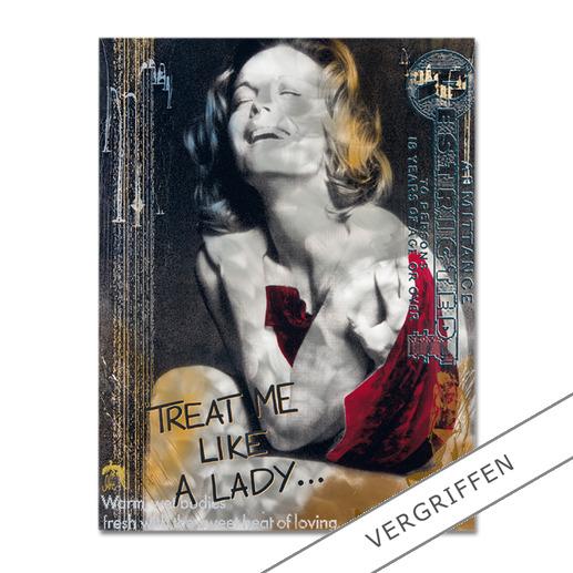 """Devin Miles: """"Like a Lady"""" - Devin Miles: Der Shootingstar der deutschen """"Modern Pop-Art"""". Unikatserie aus Malerei, Siebdruck und Airbrush auf gebürstetem Aluminium. 100 % Handarbeit."""