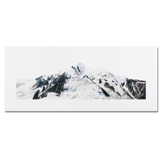 """Mont Blanc"" auf Aludibond, 130 x 55 cm."