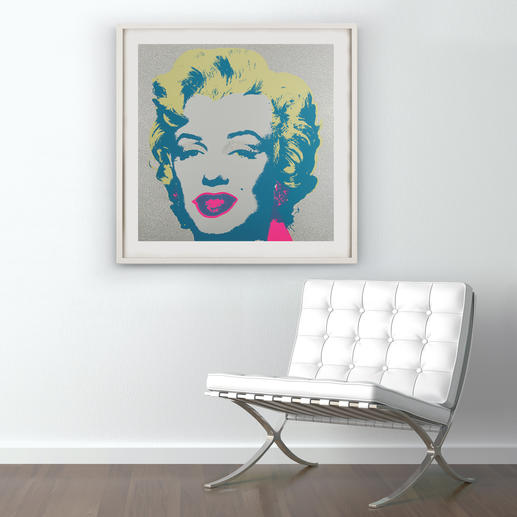 """Marilyn Diamond Dust"", gerahmt 112 x 112 cm."