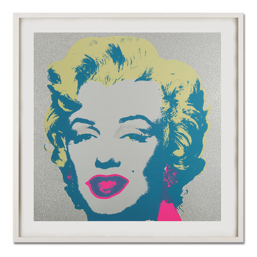 "Andy Warhol – Marilyn Diamond Dust - Andy Warhols Marilyn Monroe – mit glitzerndem ""Diamond Dust"" veredelt. Siebdrucke aus der bedeutenden Sunday B. Morning Edition."