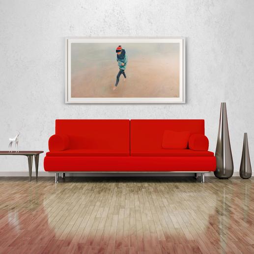 Mit 176 x 97 cm eine ideale Größe über Sideboards und Sofas.