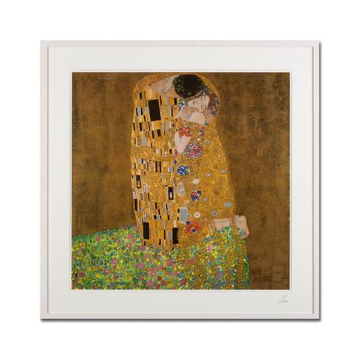 """Gustav Klimt – Der Kuss (1908 / 1909) - Gustav Klimt """"Der Kuss"""" (1908 / 1909) als High-End Prints™. Endlich eine Qualität, die dem großen Meisterwerk tatsächlich gerecht wird."""